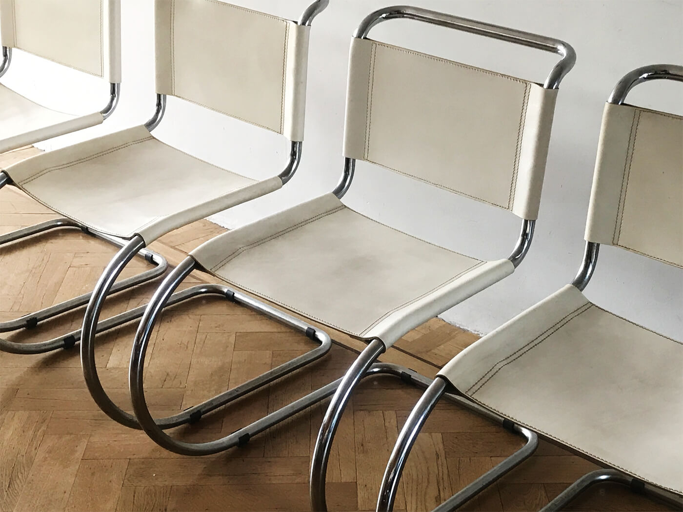 4 MR10 Chairs Mies Vd Rohe Bauhaus
