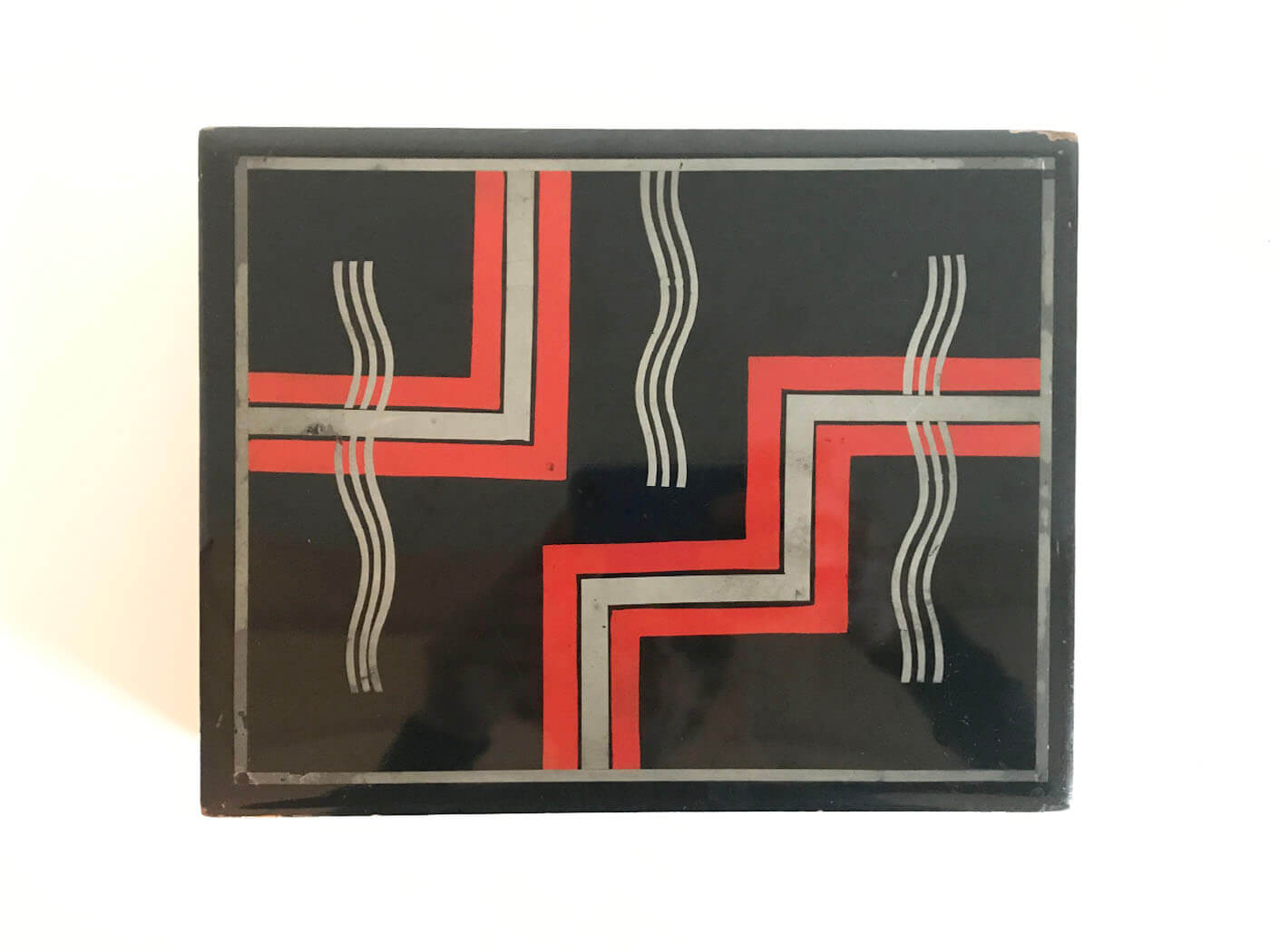 Art Deco Lacquered Box Ca 19301